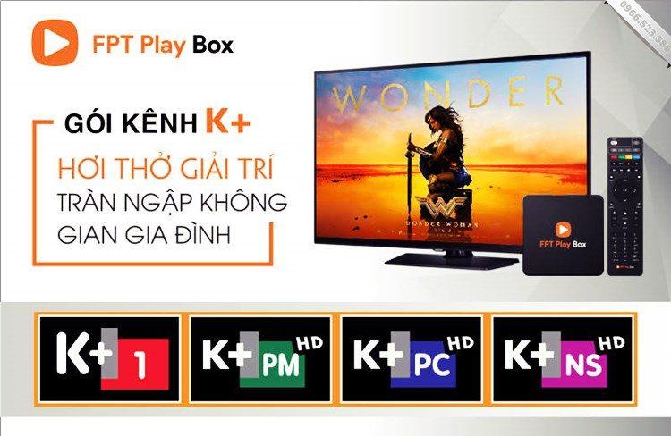 Danh sách kênh K+ trên FPT Play Box