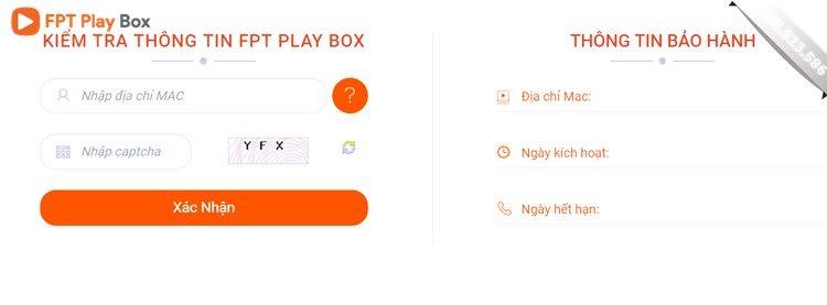 Kiểm tra địa chỉ MAC FPT Play Box