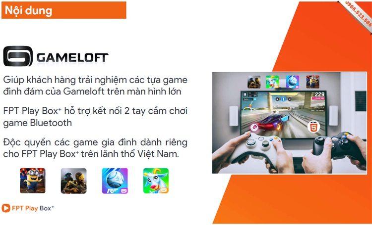 Chơi game trên FPT Play Box