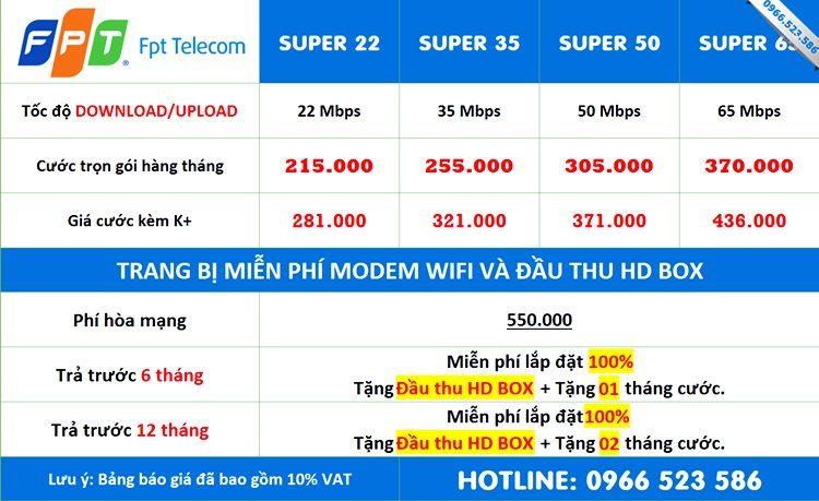 Gói mạng FPT Thái Nguyên