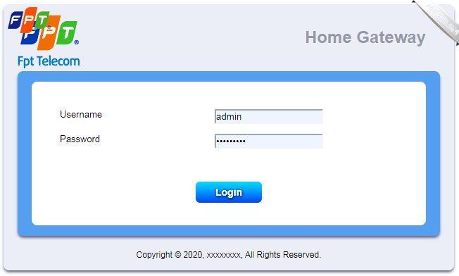 Đổi mật khẩu Wifi FPT