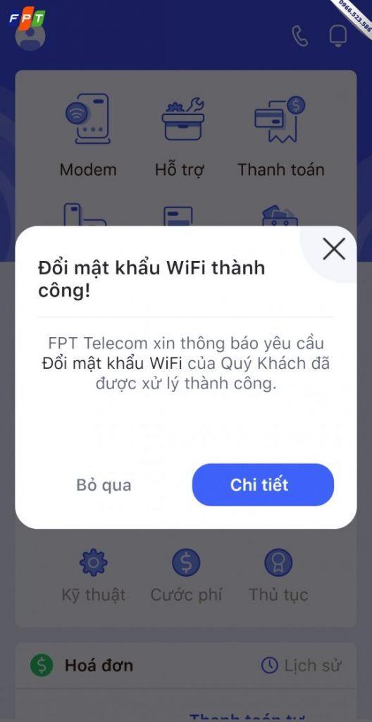 Thay đổi mật khẩu modem Wifi FPT